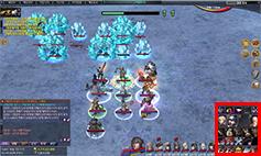 전투 중 게임 화면