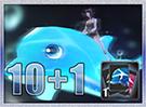 Dolphin Tube Mount Card 10+1